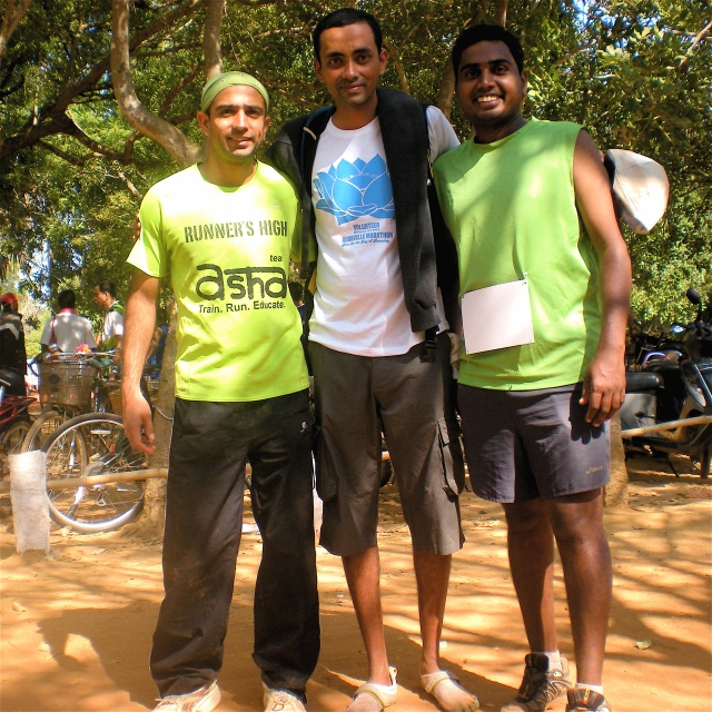 With Santhosh and Jacob