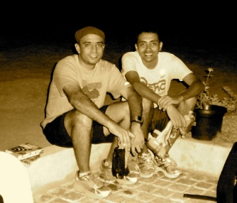 With Santhosh after my first 'night run'